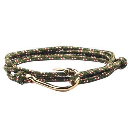 Multi-Color Fish Hook Charm Survival Bracelet