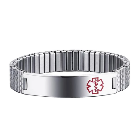 Bar Linked Medical ID Bracelet