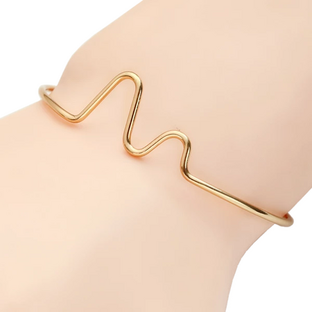 Trendy Electrocardiogram Medical Bracelet