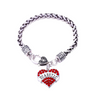 Crystal Heart Charm Medical Bracelet