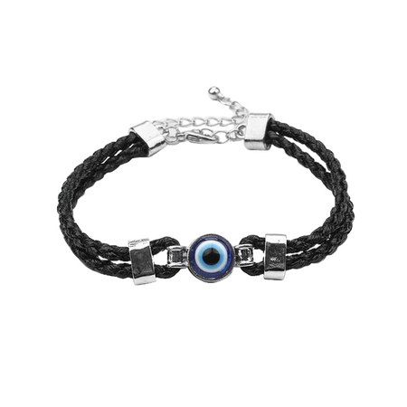 Braided Blue Evil Eye Bracelet