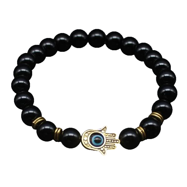 Antique Gold-Color Hamsa Evil Eye Bracelet