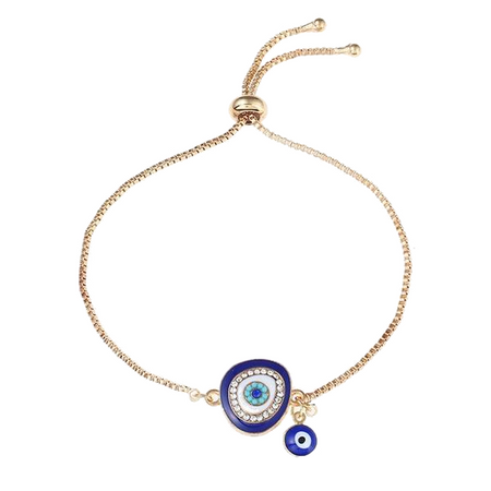 Crystal Chain Evil Eye Bracelet
