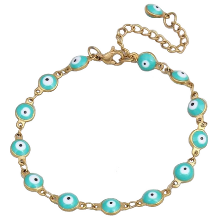 Multi-Color Gold Chain Evil Eye Bracelet
