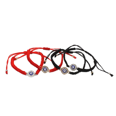 Red / Black String Evil Eye Bracelet