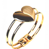 Heart Charm Bangle - Love Bracelet