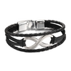 High Quality Leather Infinity Bracelet