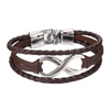Braided Leather Infinity - Couple Bracelet