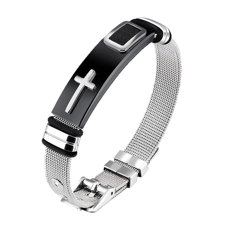 Silver Fashion Cross - Cross Bracelet