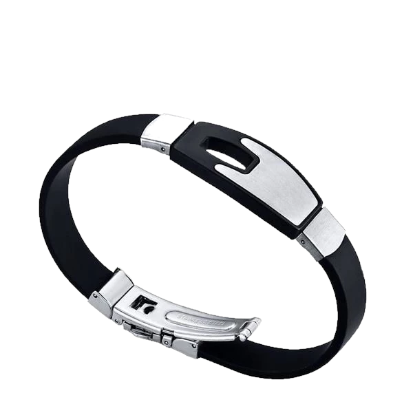 Black Bangle Rubber Bracelet