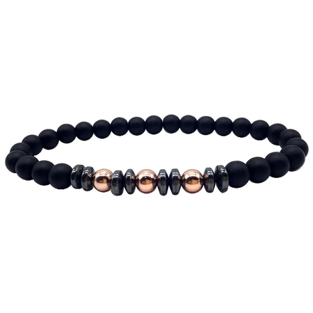 Black Copper Bead - Copper Bracelet