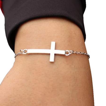 Simple Chain Link - Cross Bracelet