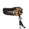 Black Tiger Eye Crystal Beaded Bracelet