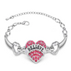 Heart Rhinestones - Best Friend Bracelet