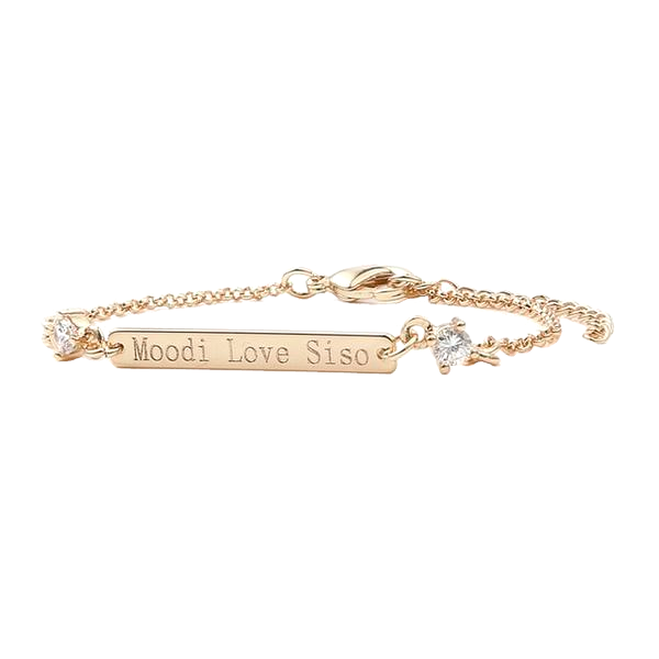 Gold/Silver Color Engraved Bracelet