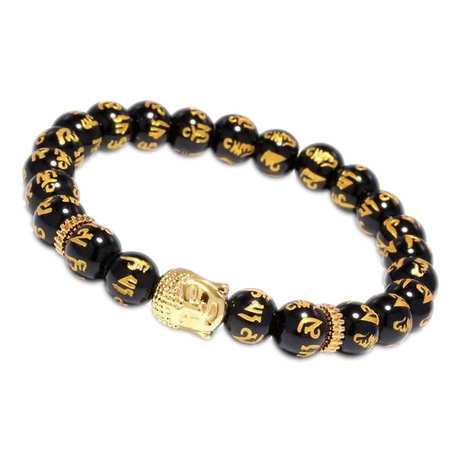 Gold Buddha Bead Bracelet for Men