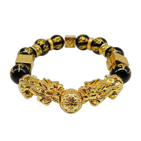 Black / Gold Bead Bracelet for Men