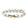 Gold Shark Rope Bracelet for Men