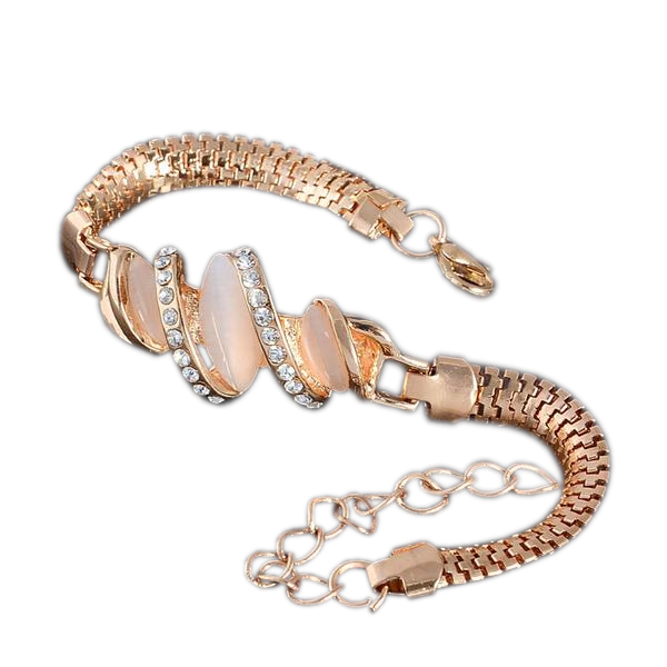 Austrian Gold Crystal Bracelet for Women