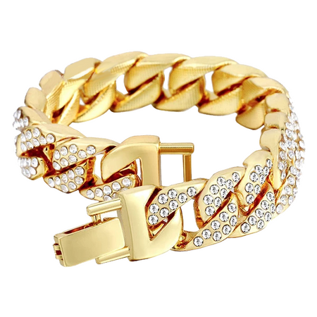 Gold Hip Hop Bracelet for Men