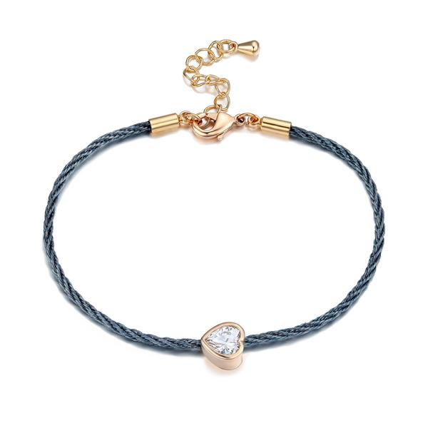 Rose Gold Charm - Love Bracelet
