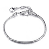 Silver Plated Basic Chain Bracelet
