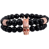 Black Agate Beads Distance Bracelet