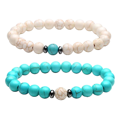 Sky Blue / White Distance Bracelet