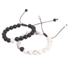 Adjustable Black/White Distance Bracelet
