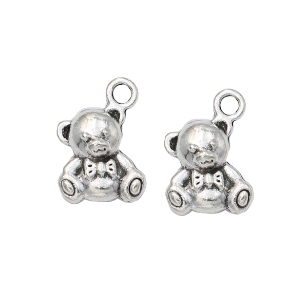 Silver Plated Bear Charms for Bracelet