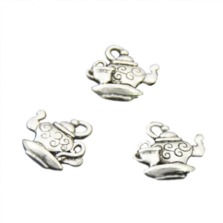Silver Teapot Charms for Bracelet