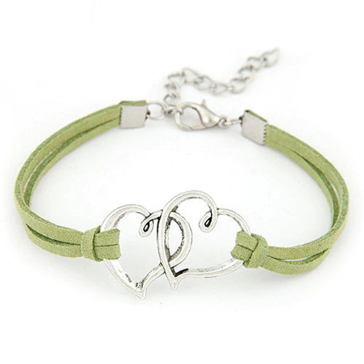 Heart Charm Rope - Love Bracelet