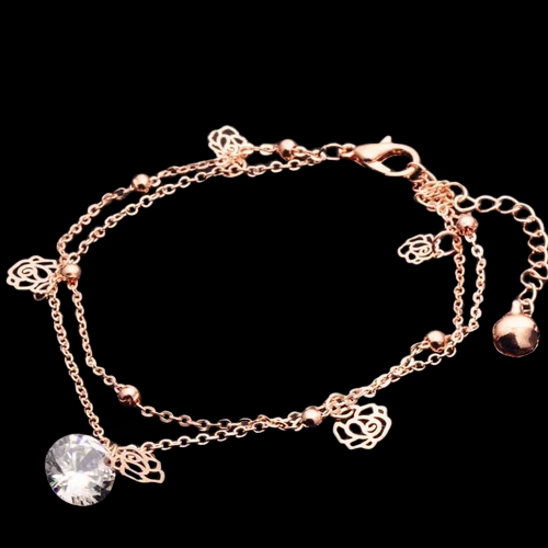 Chic Rose Gold Chain Ankle Bracelet