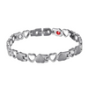 Heart-shaped Titanium Magnetic Bracelet
