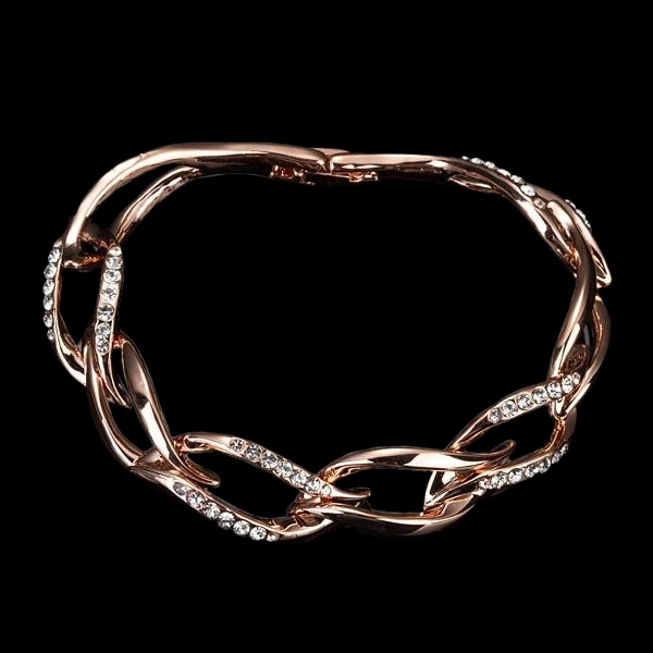 Austrian Crystal 8 Leaves Rose Gold Bracelet