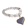 Pink Vintage Heart Bracelet for Women