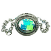 Vintage Glass Locket Sister Bracelet