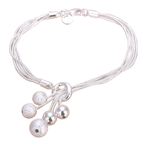 925 Silver Plated Charms Bracelet