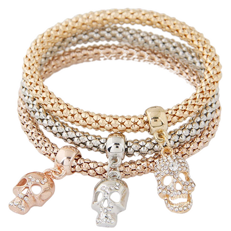 Gold Crystal Wrap Bracelet