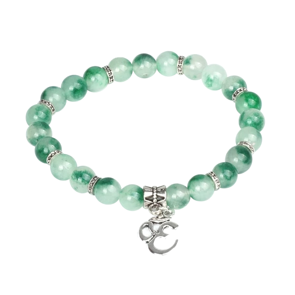 Colorful Crystal Beads Jade Bracelet