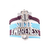 Suicide Awareness Wrap Bracelet