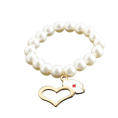Pearl Chain Medical Bracelet