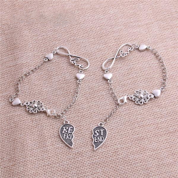 Antique Silver Chain - Best Friend Bracelet