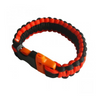 Multi-Color Paracord Whistle Clip Survival Bracelet