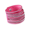 Multi-Color Punk Leather Wrap Bracelet