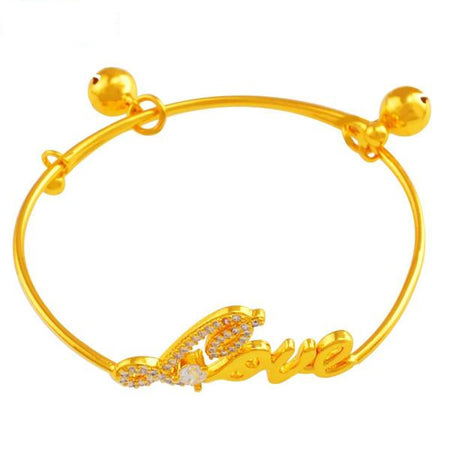 Love - Adjustable Baby Gold Bracelet