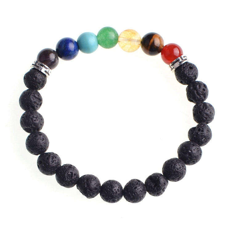 Adjustable Lava Stone Beads Relationship / Couple Bracelet