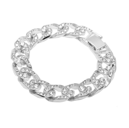 Simulated Diamonds - Men's Diamond Bracelet
