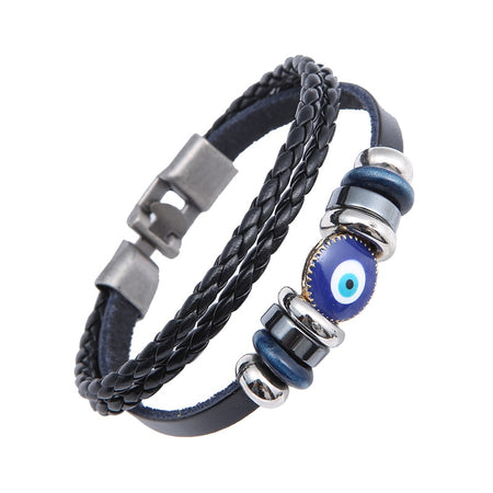 Dual Layer Turkish Punk Evil Eye Bracelet