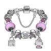 Silver - Cute Cat Kitty Charms Bracelet